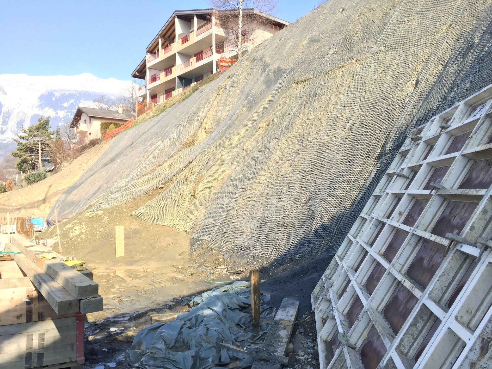 Savièse Slope Stabilisation - Switzerland - Platipus Anchors