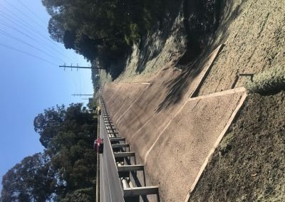 Mount Cotton Embankment - Redland, Australia - Earth anchoring system installed into matting on side of road