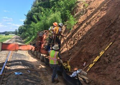WSSU End Bent Slope Stabilization - Winston Salem, NC 058