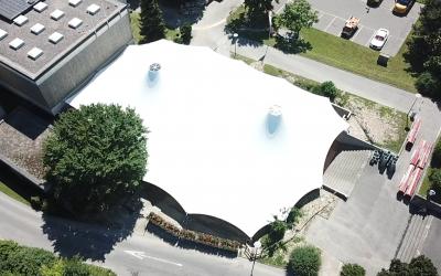 Tensile Shade Structure, Crissier, Switzerland