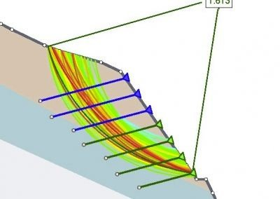 Saviese Slope Stabilisation CAD drawing showing earth anchors