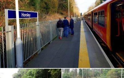 Horsley Station platform extension