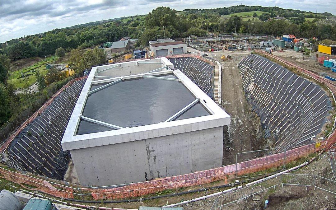 Temporary Slope Stabilisation – Wastewater Treatment Works Oldham, UK