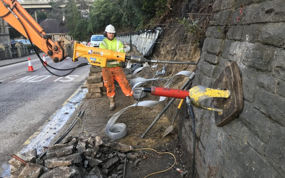 Retaining Wall (Support & Drainage)