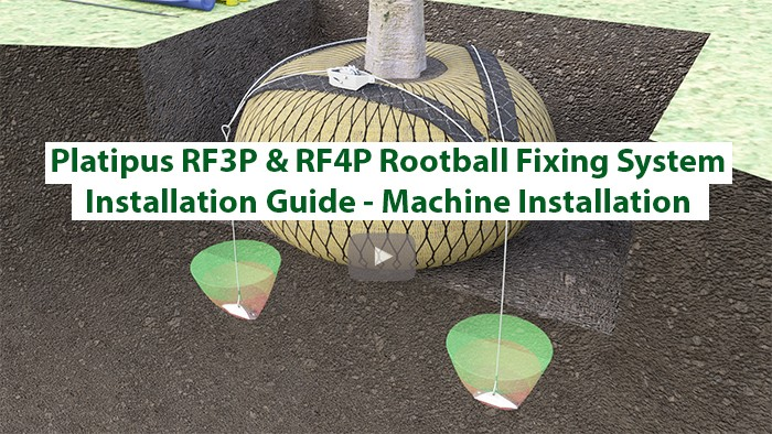 Rootball Fixing System Installation