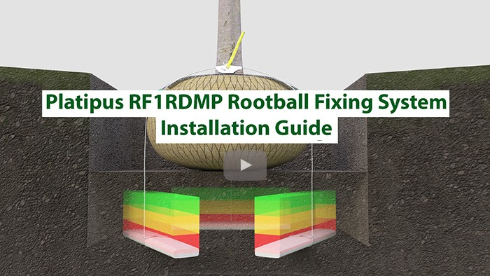 Platipus Rootball Fixing Systems Deadman