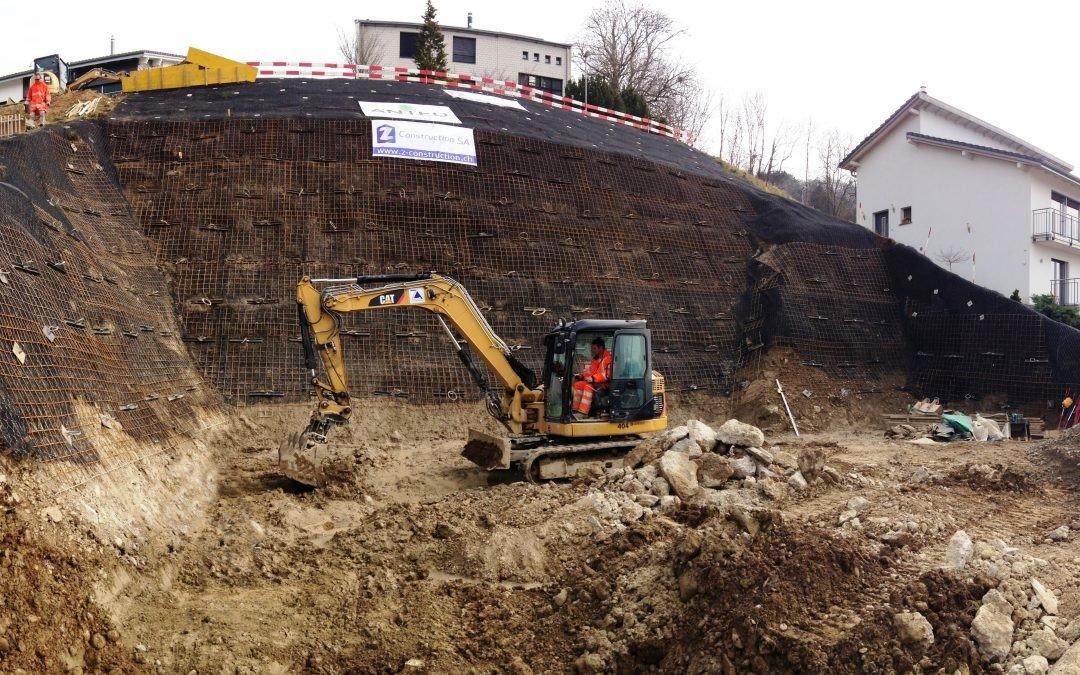 La Roche Temporary Works Excavation, Switzerland