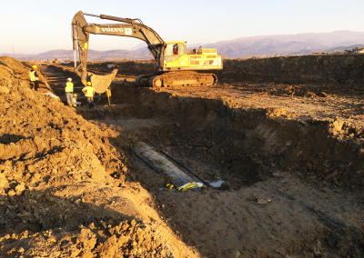 Work on Tap Pipeline in Albania