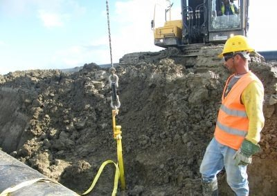 Platipus Anchor being loadlocked on TAP Pipeline in Albania