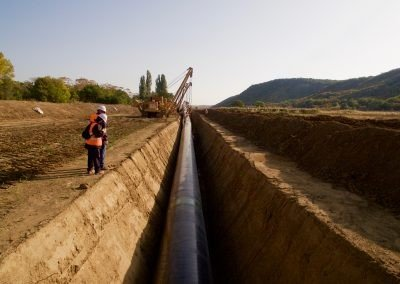 TAP Pipeline in Trench, Northern Greece