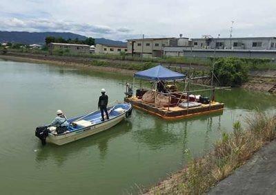 Ootsuda Ike Floating Solar Park installation barge