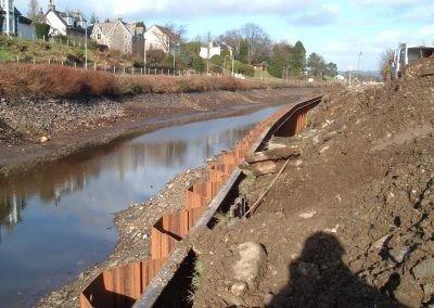 Crinan Canal, Argyle & Bute - sheet piling next to canal
