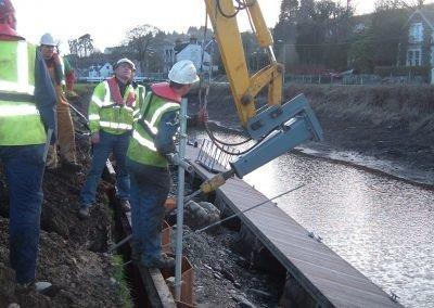 Crinan Canal, Argyle & Bute Driving anchor into sheet pile