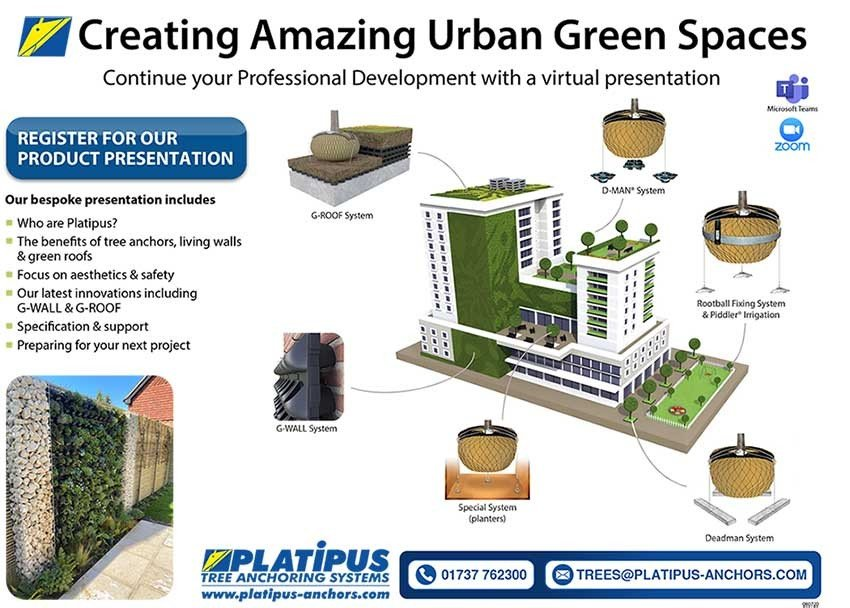 Platipus Creating Amazing Urban Green Spaces Presentation flier