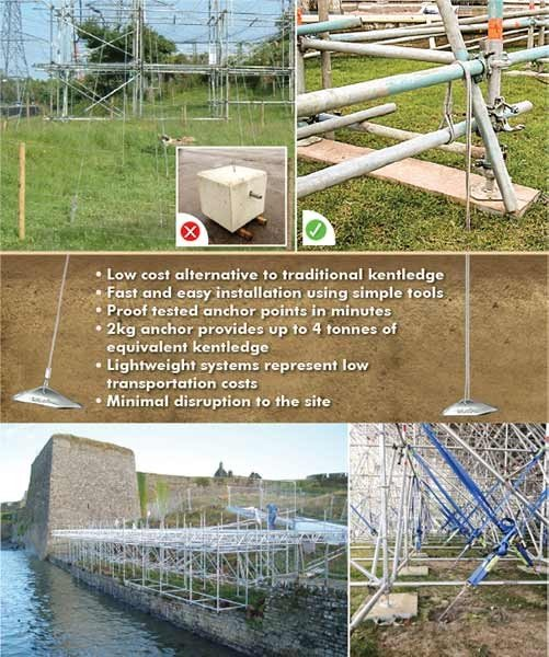 Platipus Anchors Scaffolding Solutions flier including key benefits of the Platipus System