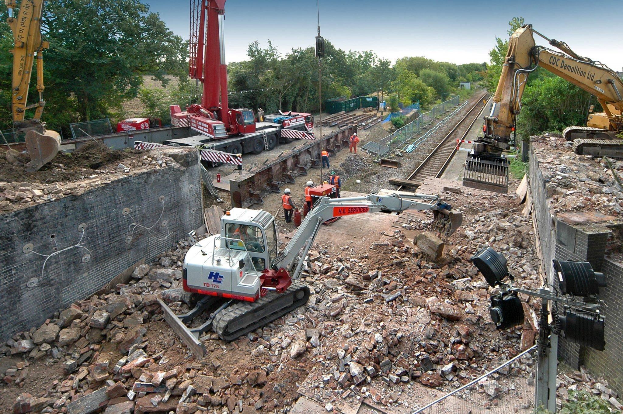 Wickham Market Bridge in Suffolk during replacement of the
