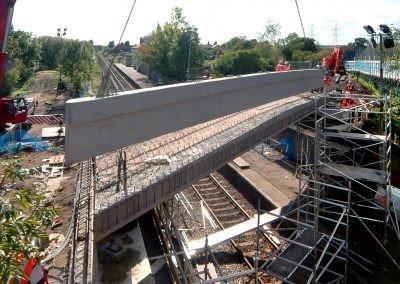 New deck being built on Wickham Market Bridge, Suffolk