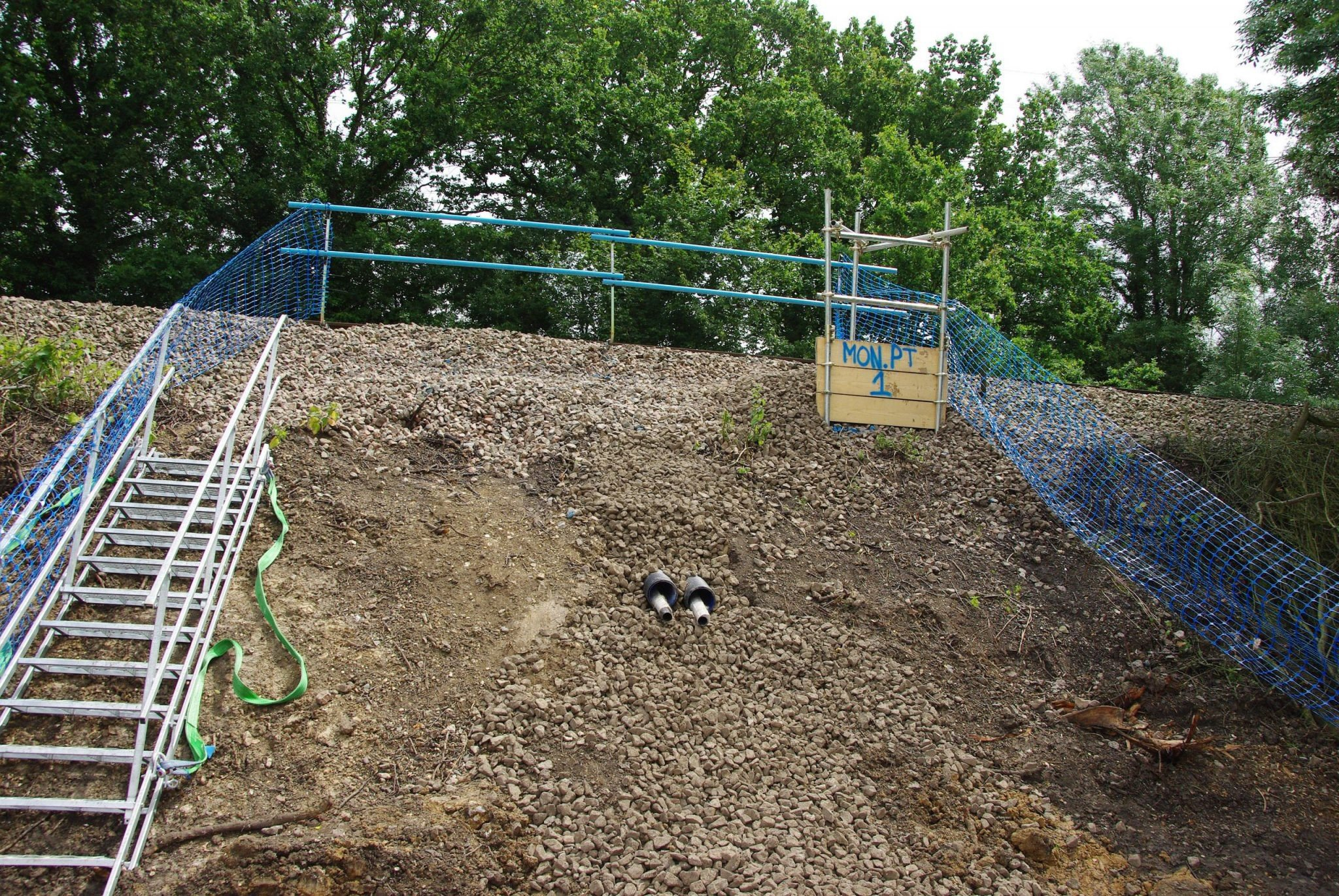 Pound Green pipeline installed with Platipus Plati-drains