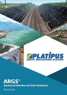 Platipus Anchors Brochure Cover for ARGS Anchored Reinforced Grid Solutions