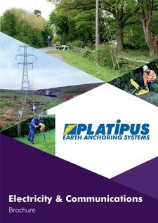 Platipus Anchors Brochure Cover for Communication and Electricity Distribution