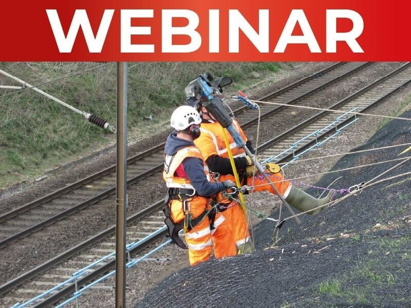 Sign up to our Rail Earthworks Webinar 18-02-2021